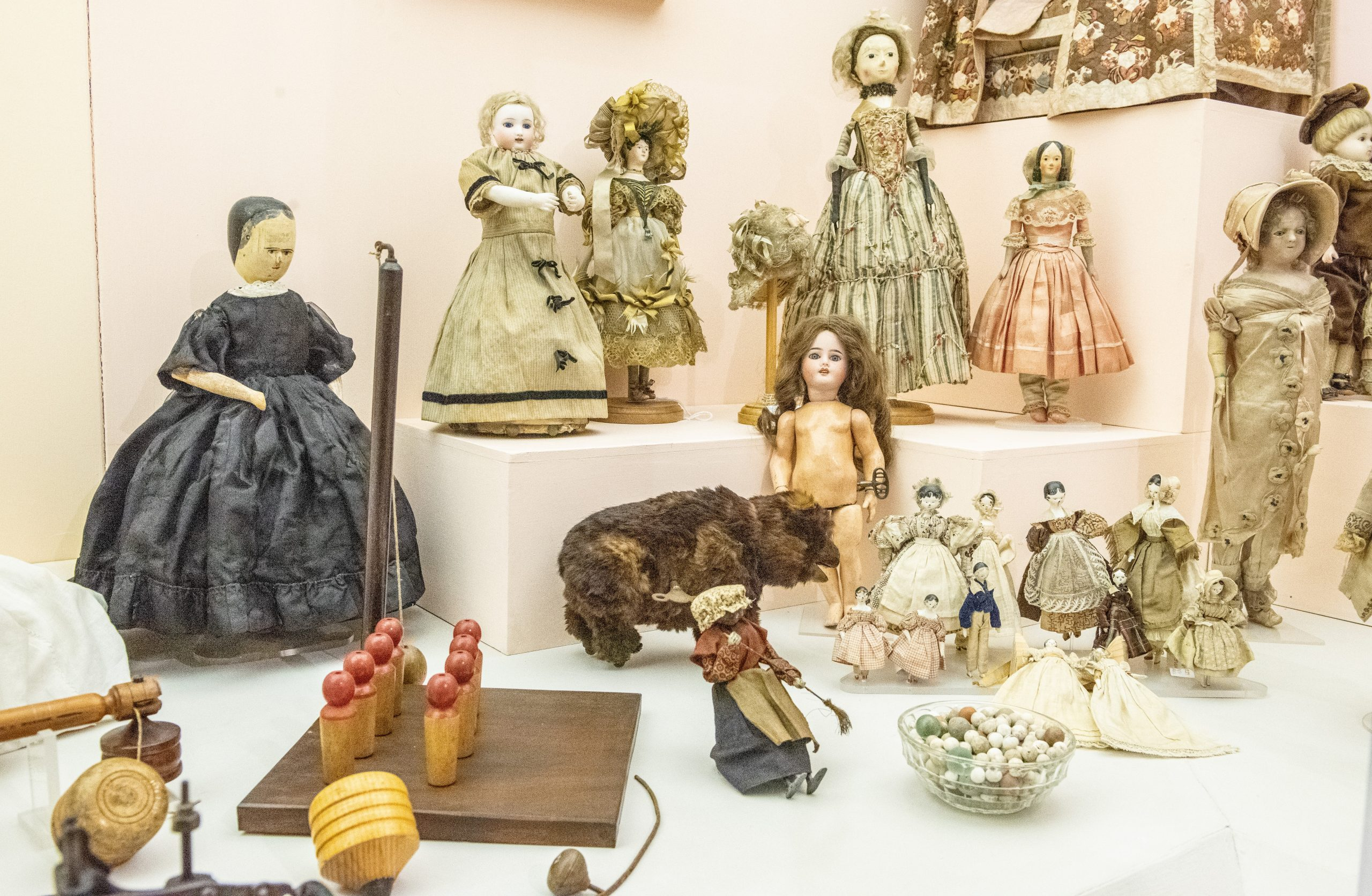 Museum dolls and toys